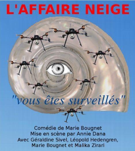 L'AFFAIRE NEIGE , une comédie de Marie Bougnet au théâtre du Gouvernail (Paris 19ème) du 13 octobre au 1er décembre 2017