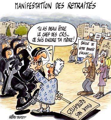 NON à la BAISSE des PENSIONS ! Les retraités dans la rue jeudi 15 mars 2018