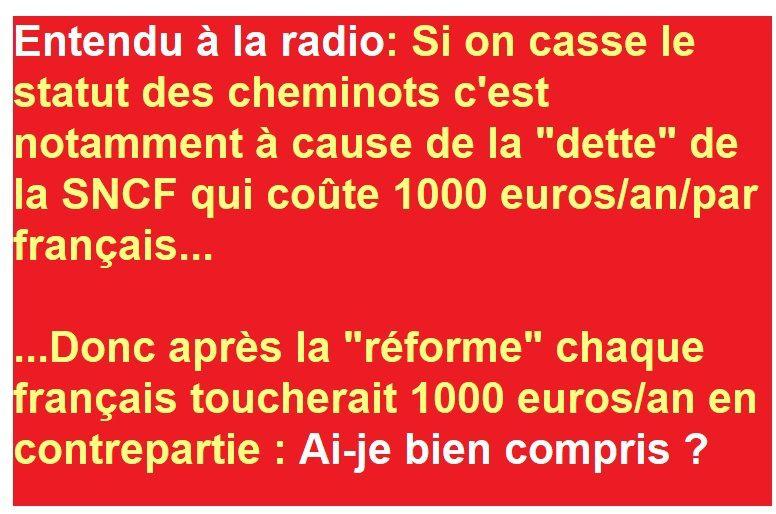 """Le statut des CHEMINOTS, la """"dette"""" et nous"""