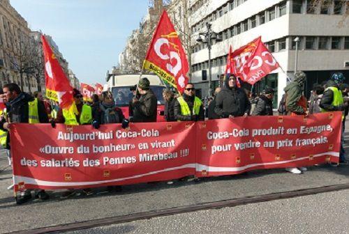 Dans les Bouches-du-Rhône la CGT assume et assure : 25 000 manifestants dans la rue à Marseille