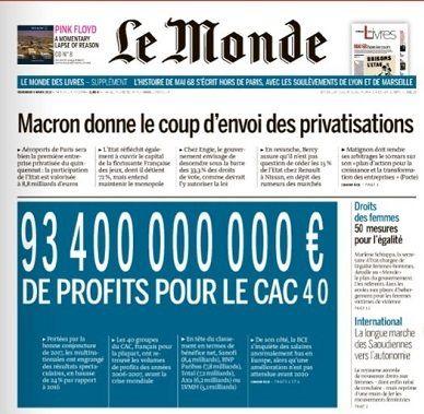 « Le Monde » en extase devant les milliards de profits du CAC40