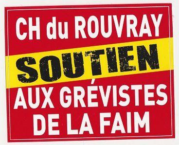 Manif pour les grévistes de la faim  de l'hôpital du Rouvray à Rouen : « Buzyn attend qu'ils crèvent ! »