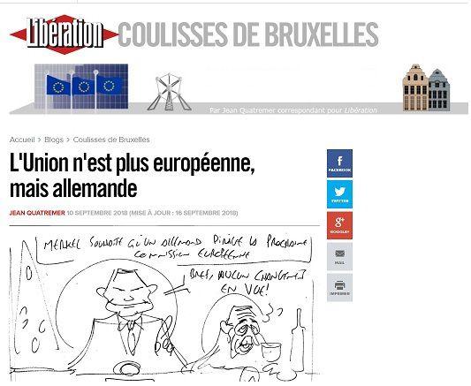 « L'Union n'est plus européenne, mais allemande » : c'est « Libération » qui le dit !