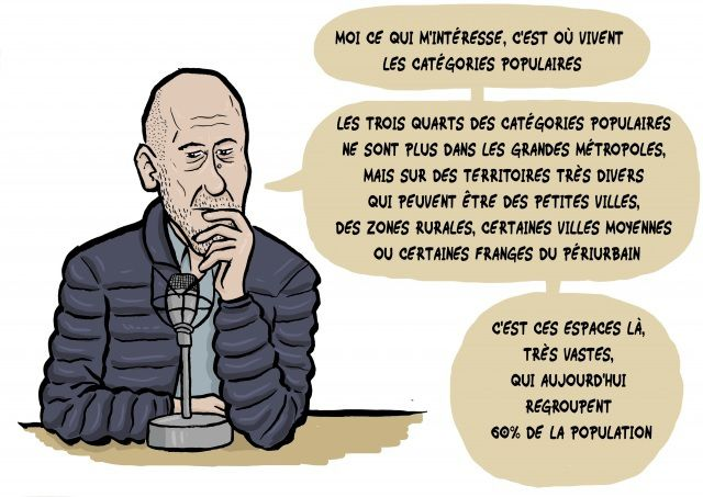 Christophe Guilluy (source dessin :lechatsurmonepaule.over-blog.fr)
