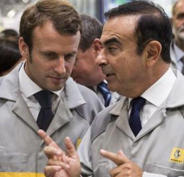 Carlos Ghosn avec Macron