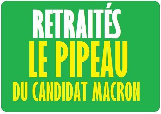 POUVOIR D'ACHAT: quand le candidat MACRON a trompé les RETRAITÉS...