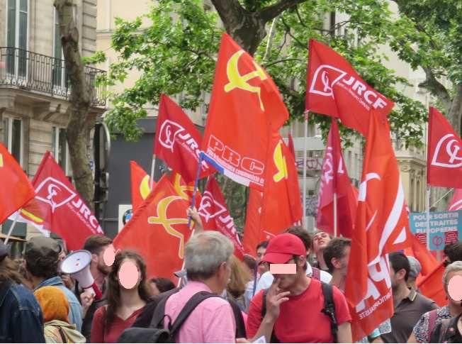 Le PRCF en manifestation le 26 mai 2018 à Paris (photo: el diablo)