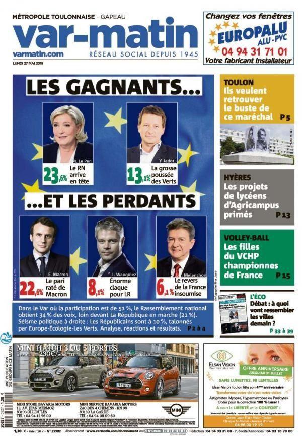 ÉLECTIONS EUROPÉENNES : Les Unes de la presse