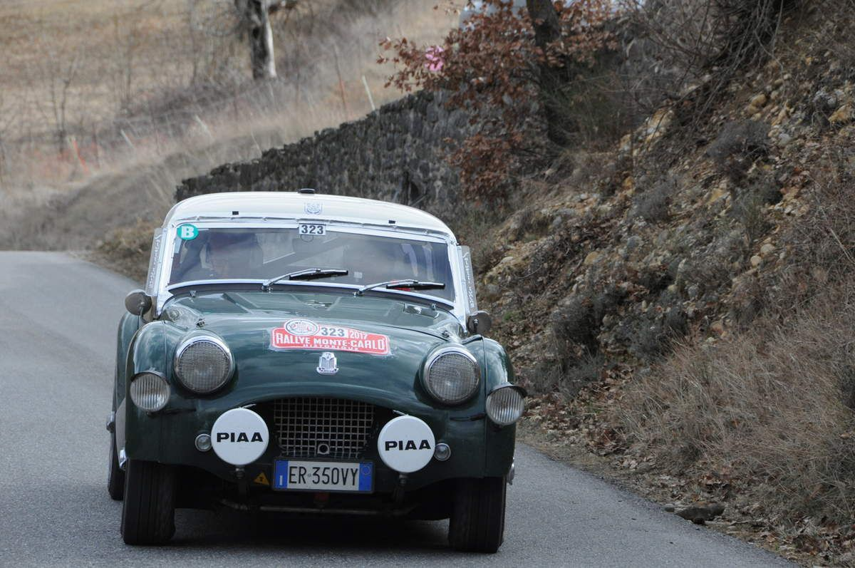 J. Paolo Marcattil(I)/Francesco Giammarino(I) Triumph TR2 1954 ..... Photo R.S.