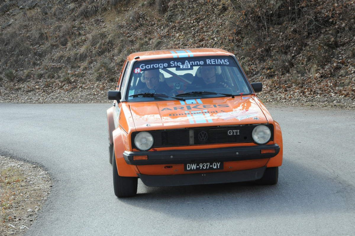 Fabrice Berruer(F)/Vincent Christophe Volskwagen Golf GTI 1979 ..... Photo : R.S.