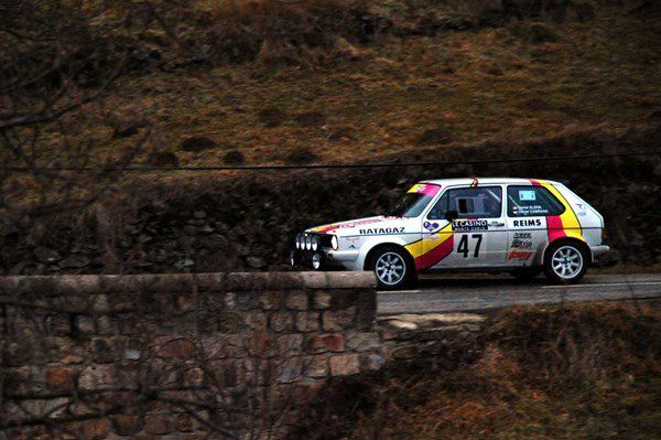 Daniel Elena(MC)Olivier Campana(MC) Volskwagen Golf GTI 1979 ..... Photo : H.C.
