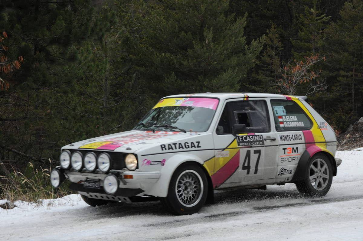 Daniel Elena(MC)/Olivier Campana(MC) Volskwagen Golf GTI 1,6 1979 ..... Photo : R.S.