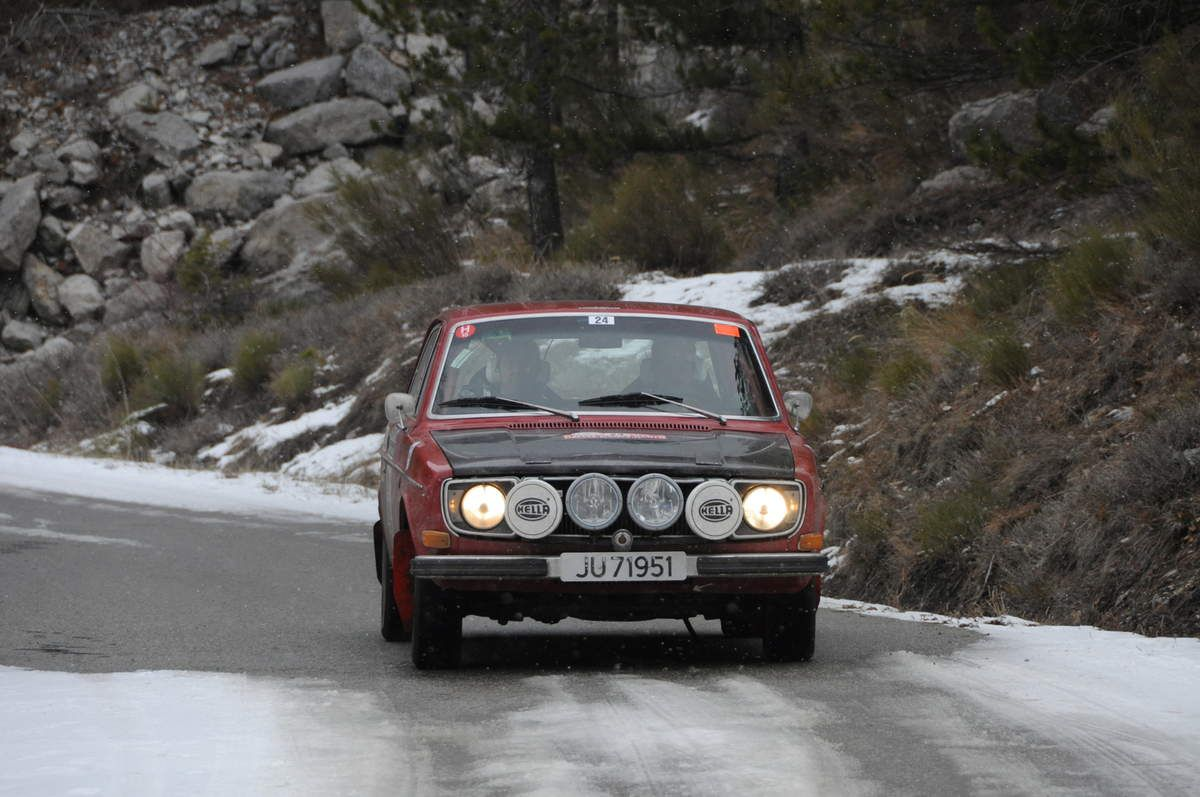 Lars Lie(N)/Henning Jorstad(N) Volvo 142 S 1972 ..... Photo : R.S.
