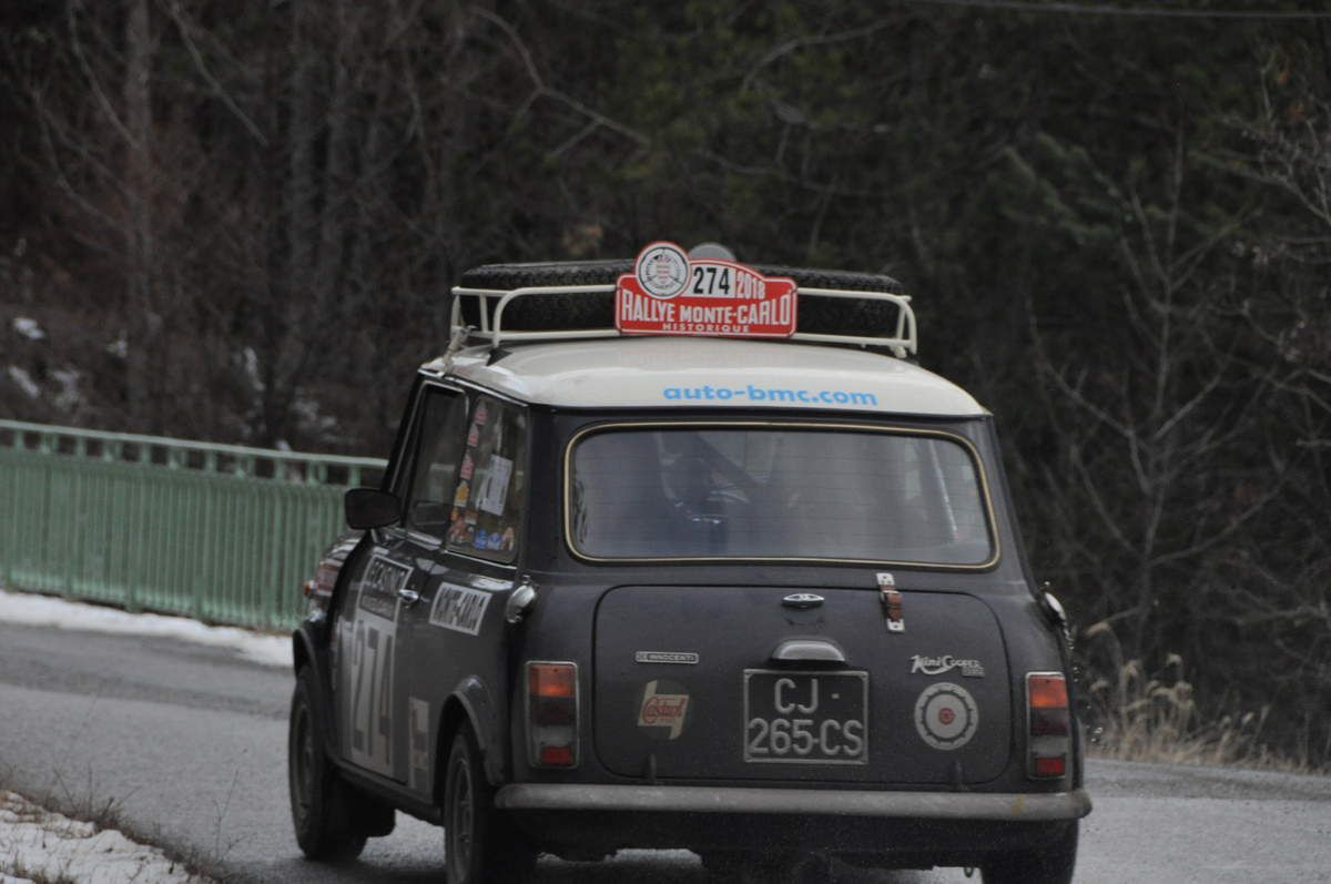 Denis Léger(F)Roland Salvi(F) Innocenti Mini Cooper 1300 1974 ..... Photo : R.S.