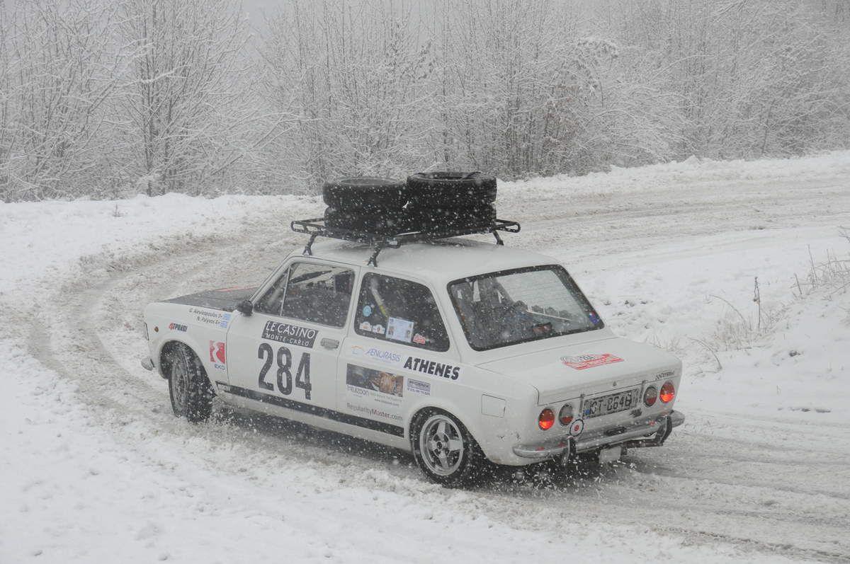 Georgios Alevizopoulos(GR)/Nikolaos Palyvos(GR) Fiat 128 Rally 1974 ..... Photo : RS