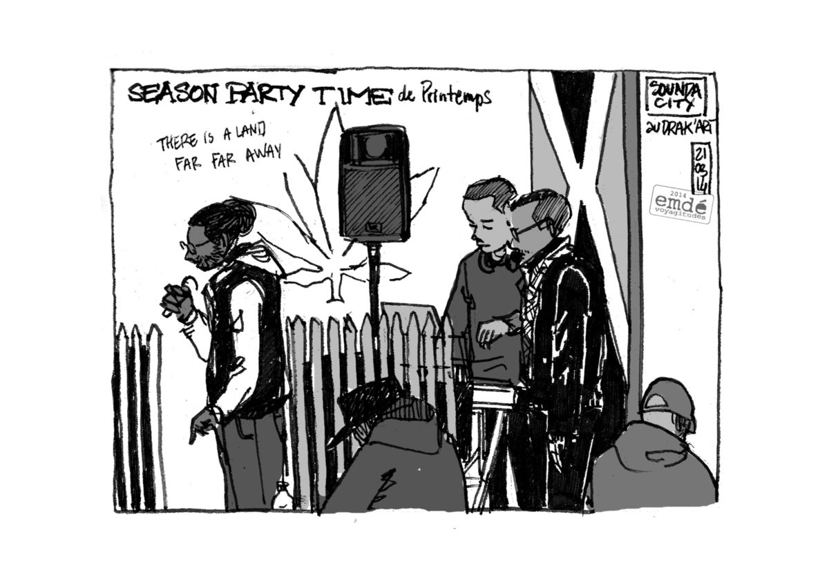 Season Party Time #01 - Le Drak'Art // croquis de concert // emdé, 2014