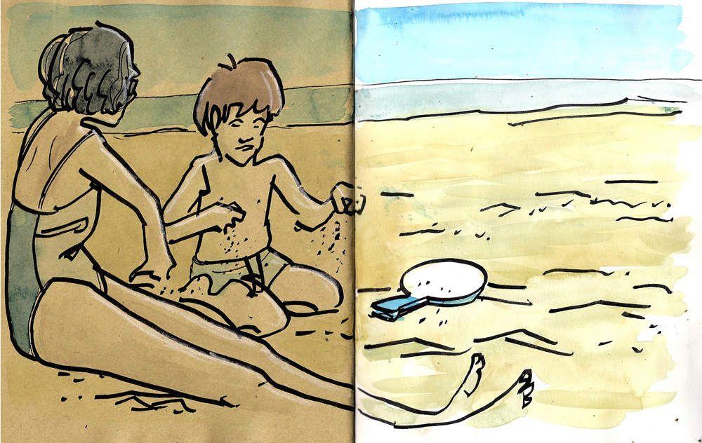 Jour de plage à Sète // carnet de balade // emdé,2017