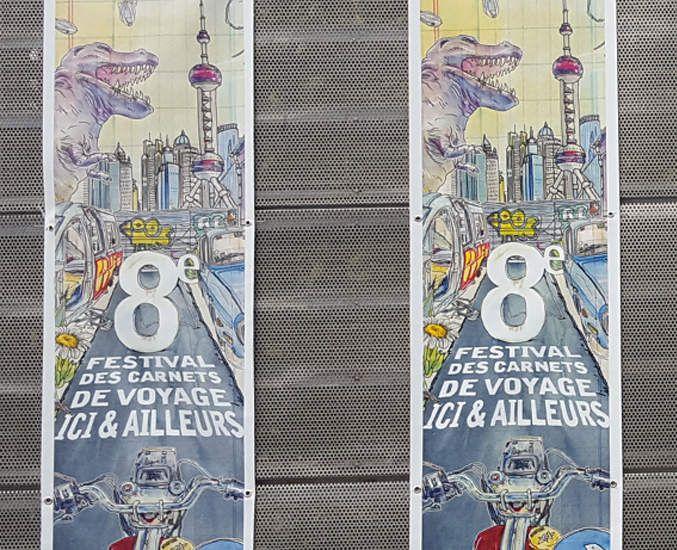 Affiche du Festival Ici & Ailleurs - Brest // by Lapin