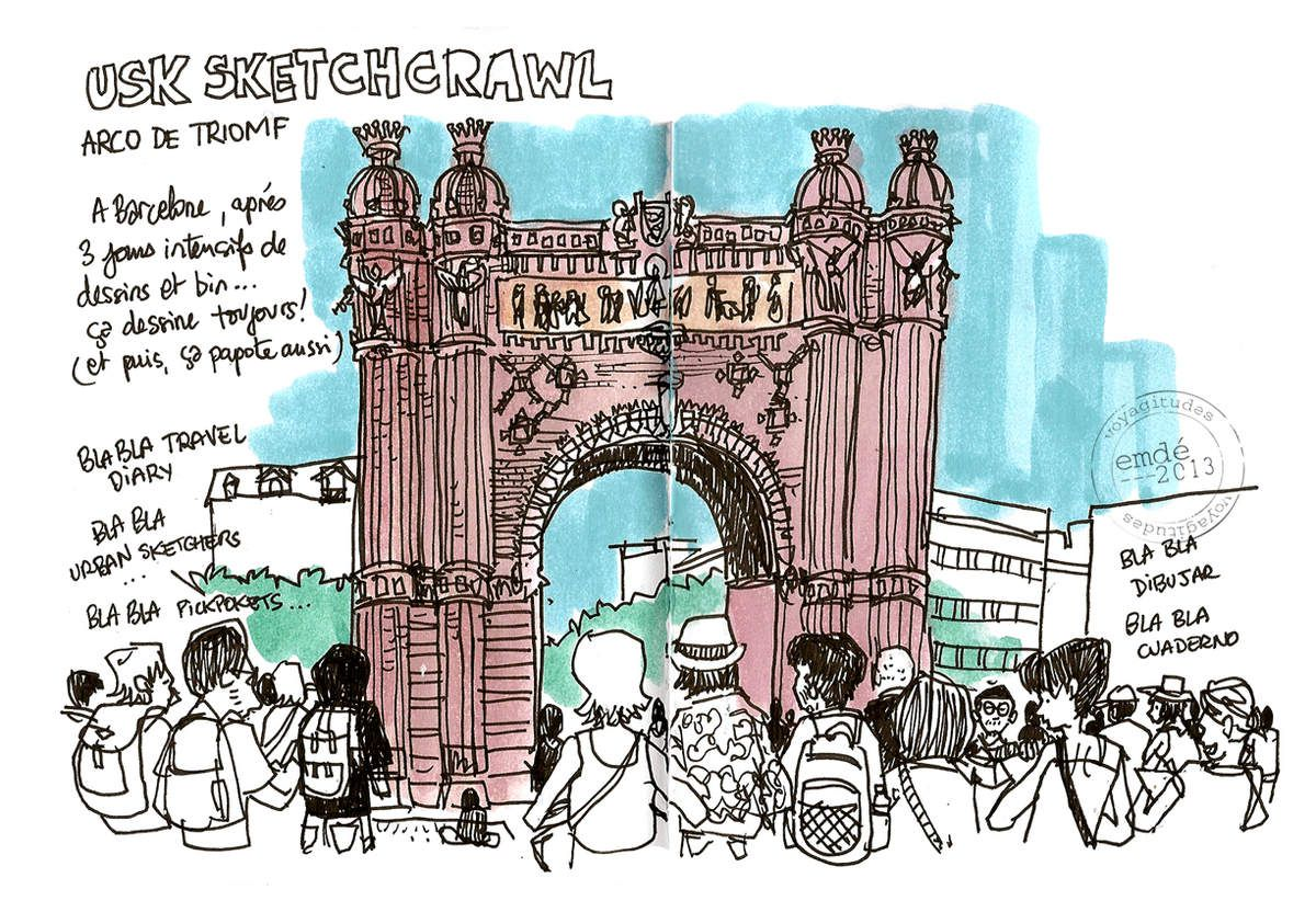 Urban Sketchers Symposium Barcelona // emdé, 2013