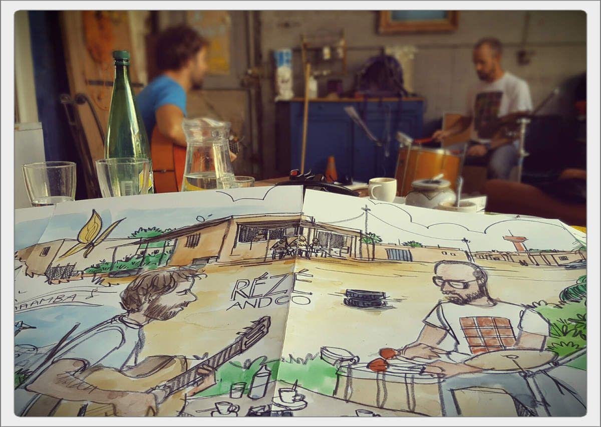 Le voyage de Rézé, trio musical dessiné // Les productions du Bazar & emdé, 2017