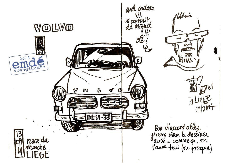 Dessiner Liège avec les Urban Sketchers // emdé, 2014