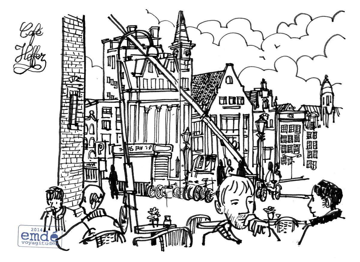 Carnet d'Amsterdam / carnet de voyage / emdé, 2014