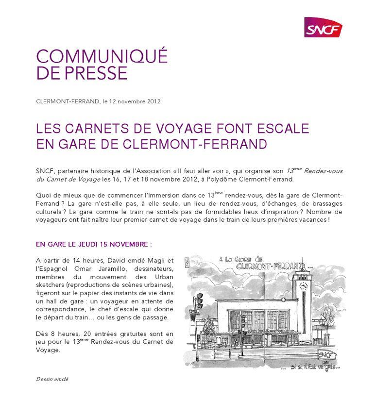 Des carnettistes en gare de Clermont-Ferrand / Croquis de voyage