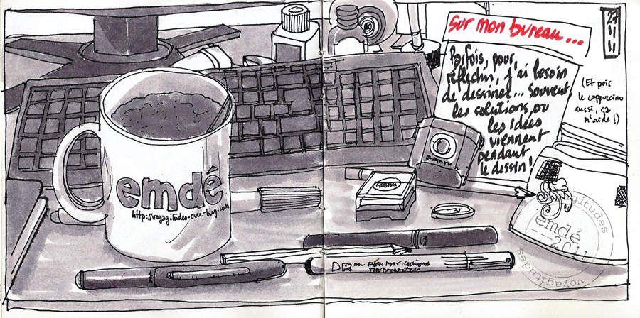 Mon bureau, mon bazar // emdé, 2010/11/12
