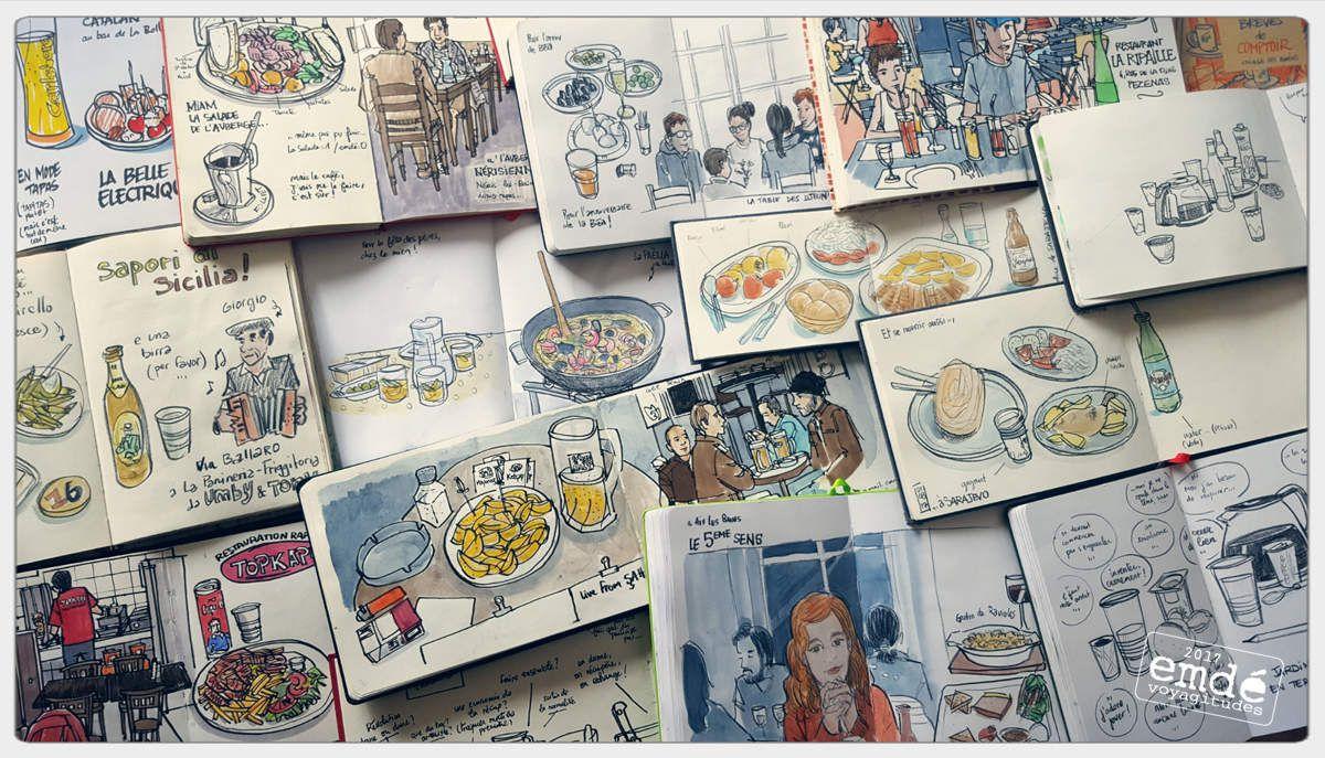 sketchbooks - carnets de croquis // emdé, 2017
