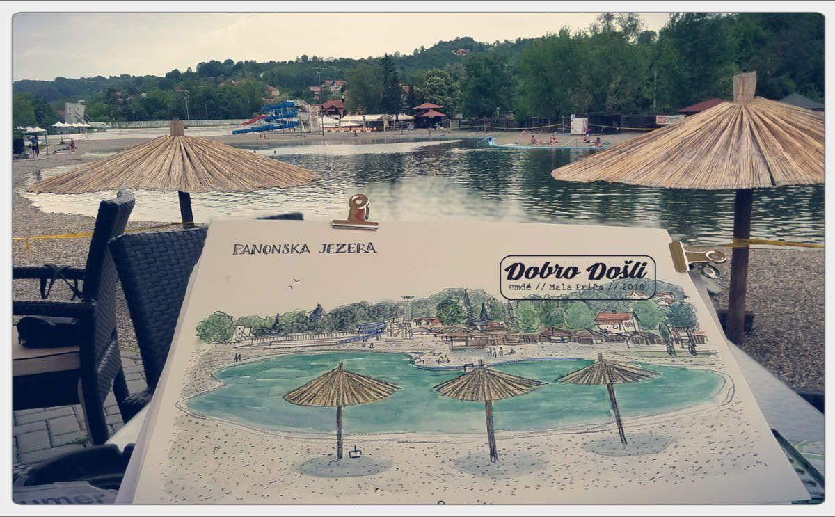 "Croquis ""in situ"" en Bosnie-Herzégovine - Région de Tuzla // Mala Prica - emdé, 2018"