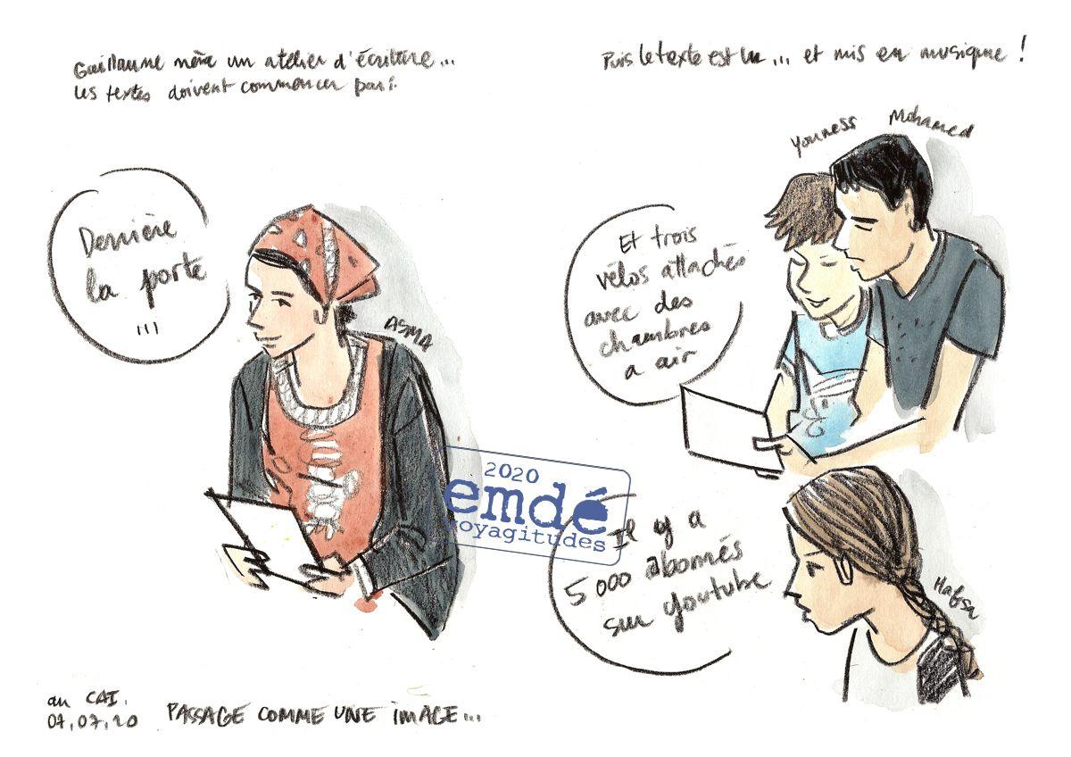 Au Centre d'Accueil Intercommunal de Grenoble / emdé, voyagitudes - 2020