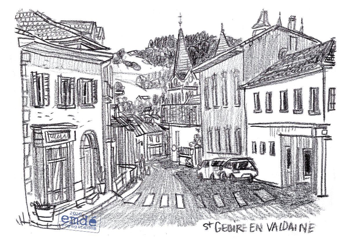 Croquis de St-Geoire-En-Valdaine // emdé - Voyagitudes, 2020