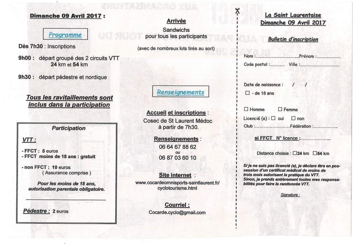 La Saint Laurentaise VTT : affiche