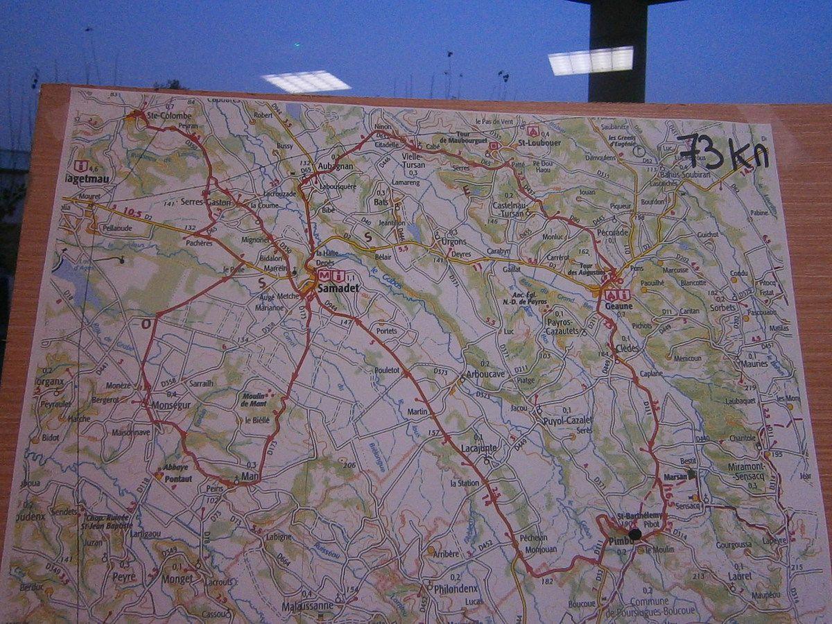 Nous choisissons 73 km  . Francine et Marie Laure partiront sur les 10 km de marche
