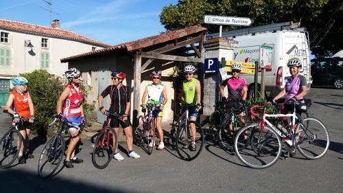 Le groupe des femmes cyclistes
