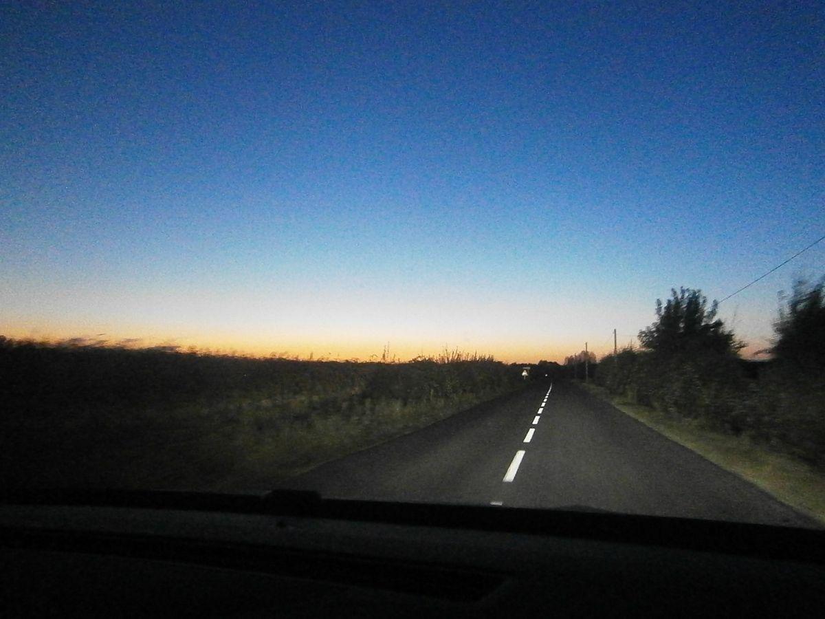 Le soleil se lève à peine