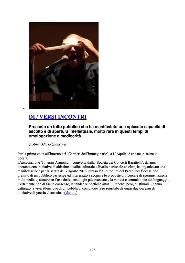 """ZRALt! RIVISTA CULTURALE INTERDISCIPLINARE. TRIMESTRALE MULTIMEDIALE ONLINE MONOTEMATICO SU """"CATASTROFE E CREATIVITA'"""". Nn. 1-20 ESTATE 2013-PRIMAVERA 2018"""