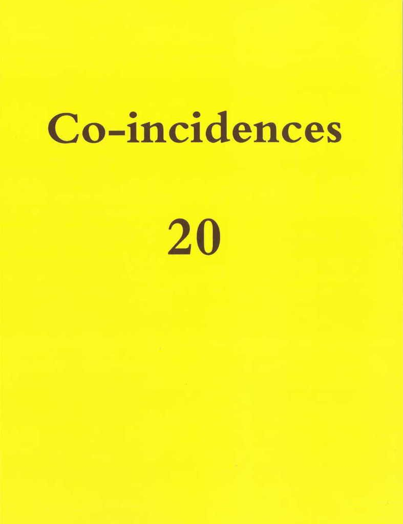 CO-INCIDENCES N.20 REVUE DE CREATION