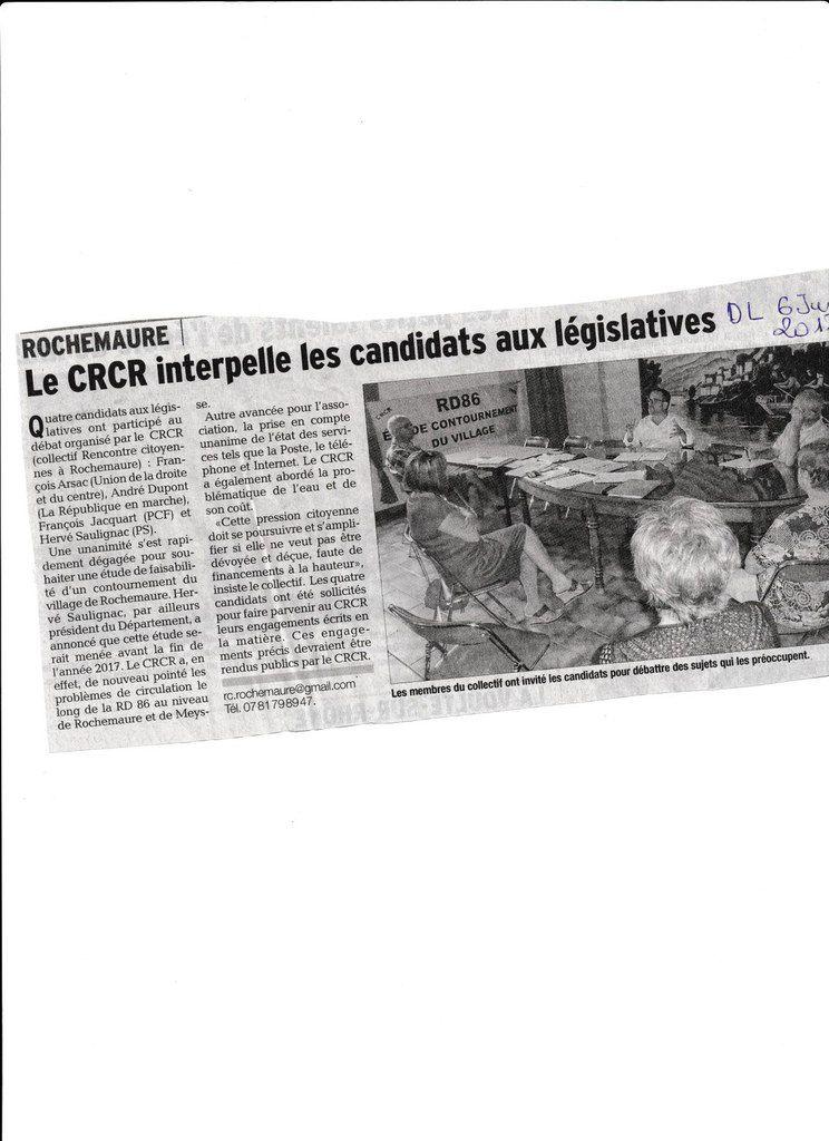 Rencontre Citoyenne avec M. H.SAULIGNAC (Dauphiné Libéré)