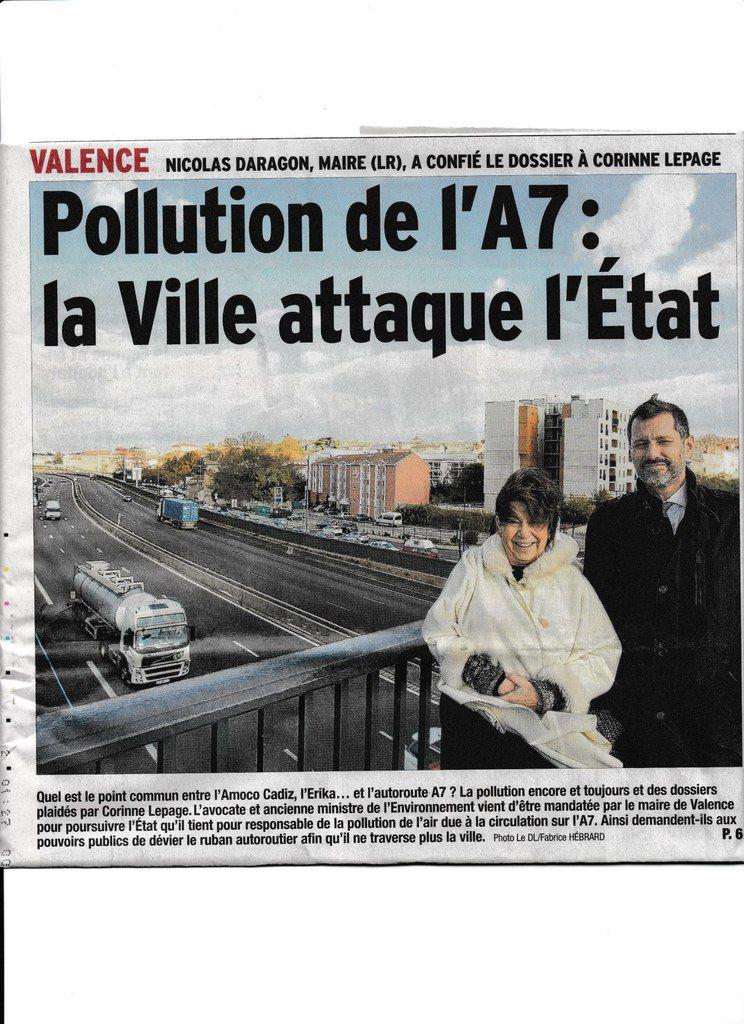 Les taux de pollution mesures par Air Rhone Alpes sont identiques à Valence et à Rochemaure en bord de la RD 86 - ALORS que FAIT - ON ?