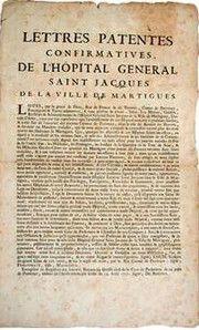 DE L'HOPITAL SAINT JACQUES AUX HOSPICES CIVILS DE MARTIGUES : L'HISTOIRE DE L'HOPITAL DE MARTIGUES