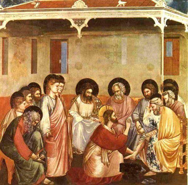 Fresque de Giotto, de l'église d'Arena à Padoue, Italie, datant de 1304-1306