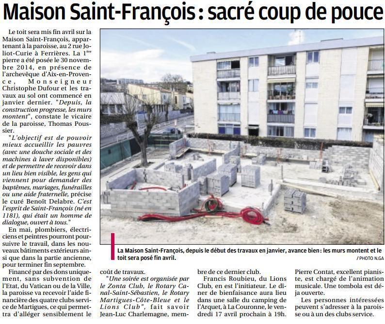 """""""MAISON SAINT FRANCOIS : SACRE COUP DE POUSSE"""" DANS LA PROVENCE"""