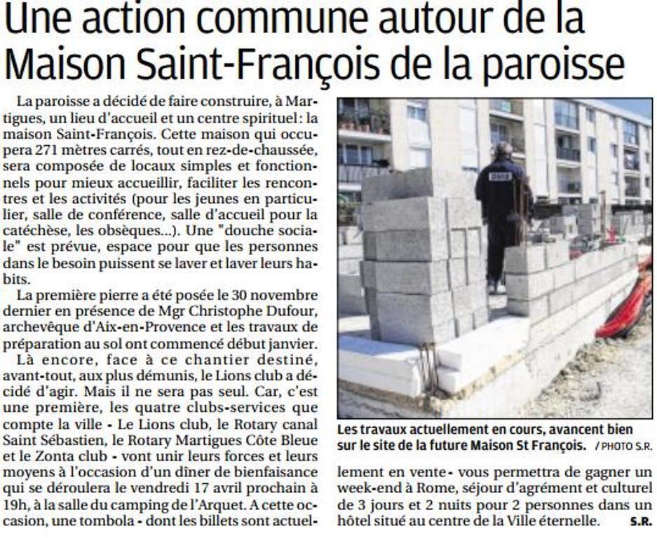 LA MAISON SAINT-FRANÇOIS À MARTIGUES