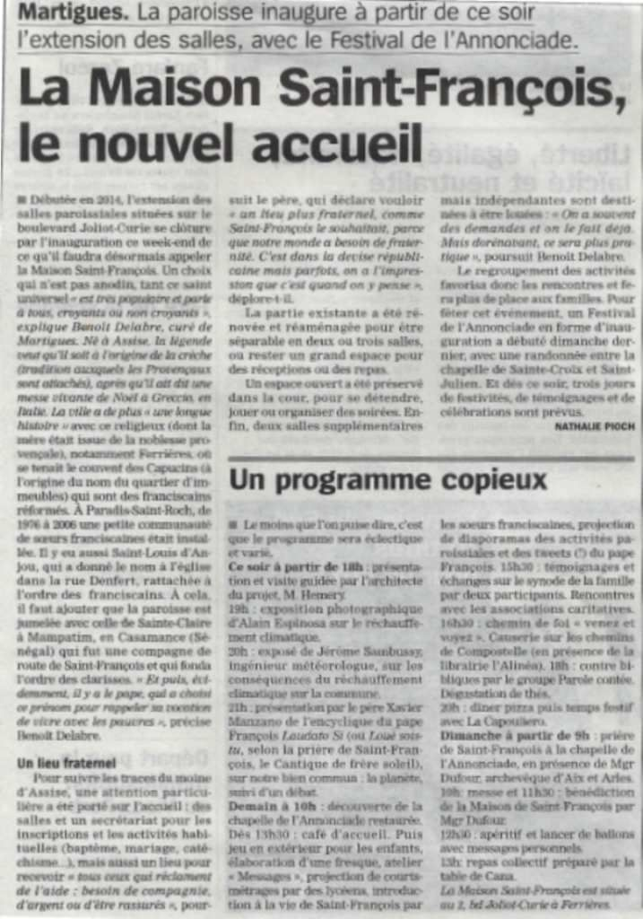 La Marseillaise du 2/10/2015