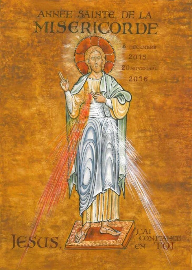 L'icône du Christ miséricordieux dont des représentations circuleront dans les foyers du diocèse pendant l'année sainte.