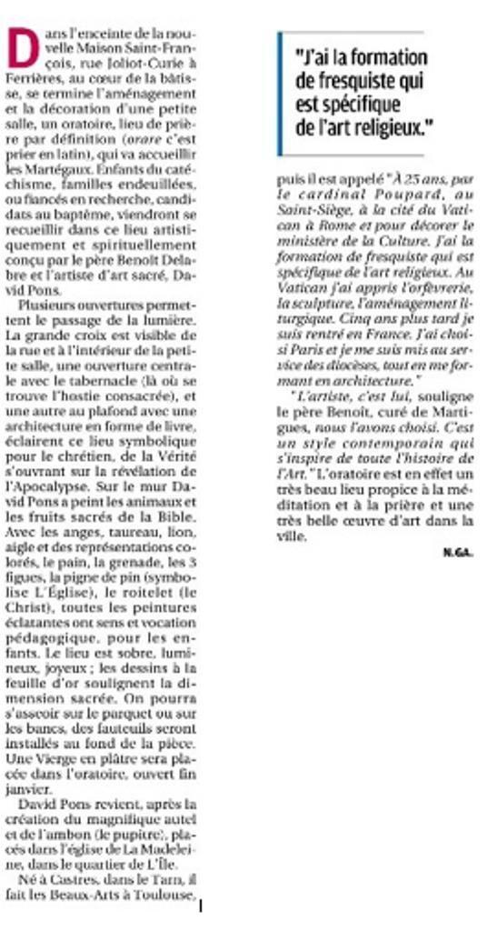 Dans La Provence du 25/12/2015
