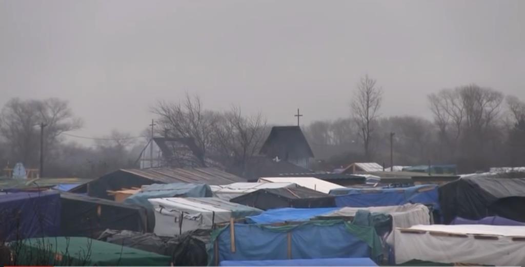La Jungle de Calais où survivent 6000 migrants.