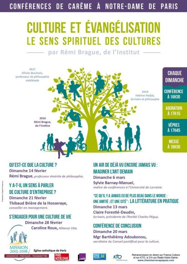 Conférences chaque dimanche en direct sur KTO et sur France Culture à 16h30 :