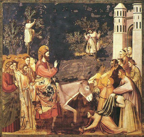 Entrée de Jésus à Jérusalem, Giotto.